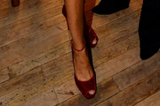 Joan Smalls Peep Toe Pumps