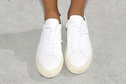 Jessica Williams Leather Sneakers