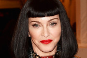 Madonna Medium Straight Cut with Bangs