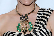 Leslie Bibb Gold Statement Necklace