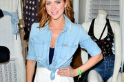 Brittany Snow Denim Shirt