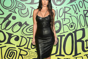 Kourtney Kardashian Leather Dress