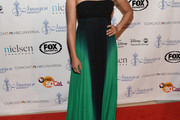 Monica Raymund Strapless Dress