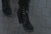 Sophia Stallone Lace Up Boots