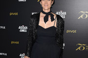 Carrie-Anne Moss Sequined Jacket