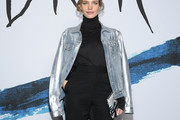 Natalia Vodianova Leather Jacket
