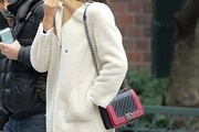 Irina Shayk Quilted Leather Bag