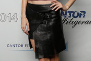 Jessica Stam Mini Skirt