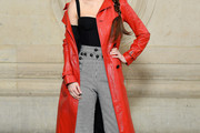 Charlotte Le Bon Leather Coat
