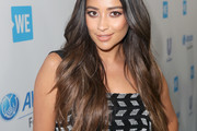 Shay Mitchell Feathered Flip