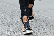 Olivia Palermo Leather Sneakers