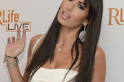 Elisabetta Gregoraci Long Straight Cut with Bangs